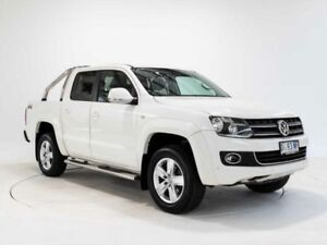 2013 Volkswagen Amarok 2H MY12.5 TDI400 Highline (4x4) Candy White 6 Speed Manual Dual Cab Utility Devonport Devonport Area Preview