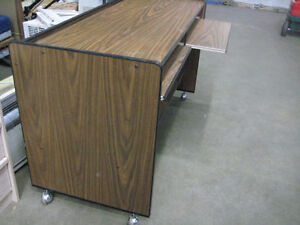 Desk on Wheels with 2 Places Kitchener / Waterloo Kitchener Area image 3
