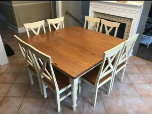 Harvest Table with 8 Chairs