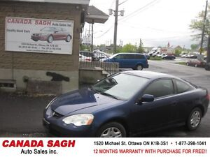 2004 Acura RSX COUPE 5SPEEDS, 12M.WRTY+SAFETY $2990