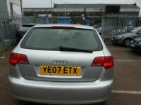 AUDI A3 SPORTBACK 2.0TDI 2007 REG ALLOYS LEATHER SERVICE HISTORY