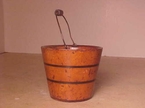 ANTIQUE PEASEWARE MINIATURE PAIL AS FOUND
