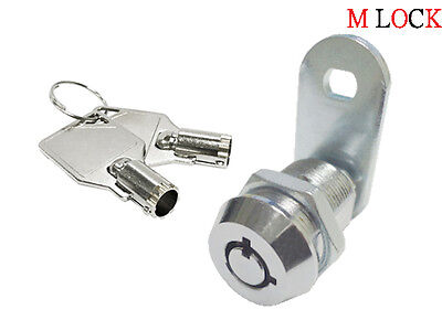 "5/8"" Tubular Cam Lock 90 Degree & 2 Key Pull Drawer Cabinet Toolbox Replacement"