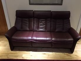 Slogan Sitbest Norwegian Leather 3 seater sofa