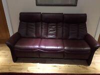 Slogan Sitbest Norwegian Leather 3 seater sofa