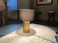 Elegant Habitat Table Light, Lamp and Black Fabric Shade