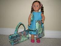 American Girl 3 piece dress/purse set for Girls and their dolls!