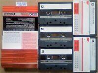 JL CHEAPEST ONLINE 5x RARE TDK D 120 D120 CASSETTE TAPES 1982-1984 W/ CARDS CASES LABELS ALL VGC