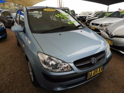 2009 Hyundai Getz TB MY09 SX Blue 4 Speed Automatic Hatchback Minchinbury Blacktown Area Preview