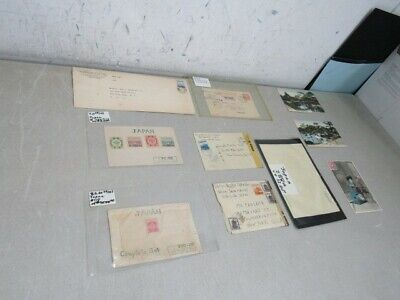 Nystamps Japan old stamp cover postal card collection with better