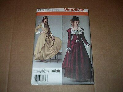 Simplicity Pattern 2172 Misses' Cosplay / Steampunk Costume Great Look 6~12 Unc