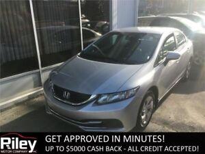 2014 Honda Civic Sedan LX STARTING AT $139.40 BI-WEEKLY