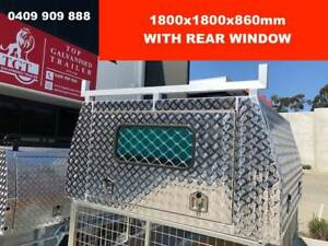 DUAL CAB JACK OFF CHECKER PLATE ALLOY CANOPY 3 DOORS