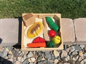Wood play food and Kids ABC wall art