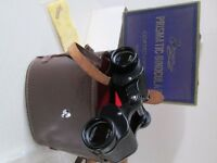 BOXED & COMPLETE-VINTAGE RARE BROWNI PRISMATIC BINOCULARS-CARRY CASE &STRAPS-VGC-COLLECT OSSETT.