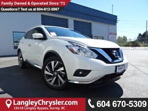 2015 Nissan Murano Platinum *ACCIDENT FREE*ONE OWNER*LOCAL BC...