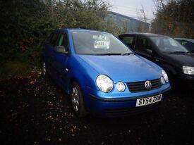 2004(54reg) V W Polo 1.4DIESEL 5 door Model MOT'd Oct £995