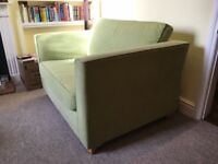 Lime Green Two Seater Sofa