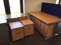 Excellent quality used office tables, filing units, screens, chairs - see description for pricing