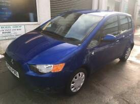 2009 Mitsubishi Colt 1.3 CZ2 4 Door Hatchback In Blue Petrol Manual.