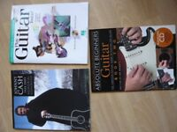 3 books on how to learn play guitar NEW with CDs