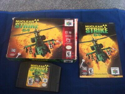Nintendo 64 N64 NTSC-U USA - Nuclear Strike 64 - Black Cart boxed with booklet