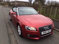 Immaculate Audi A5 Cabriolet. 61 plate. low mileage. Full Audi service history. Great price!