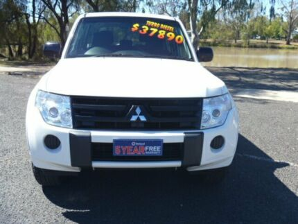 2010 Mitsubishi Pajero NT MY10 GLX LWB (4x4) White 5 Speed Auto Sports Mode Wagon Dalby Dalby Area Preview