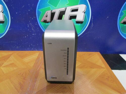 Ctera C200 CLOUD Ethernet LAN NAS Desktop Storage-No HDD-(2) HDD BAYS