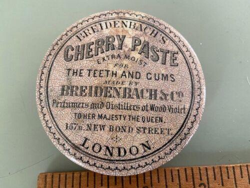 Victorian Tooth Paste Pot Lid Dentist Dental Advertising Breidenbach