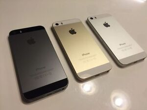 Apple iPhone 5S's 16 GB - Bell / Virgin (Space Grey/Gold/Silver)