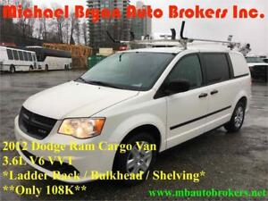 2012 DODGE RAM CARGO VAN *ONLY 108K* LADDER RACK/SHELVING *RARE*