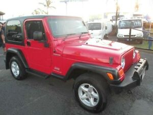 2006 Jeep Wrangler TJ MY2006 Renegade Red 6 Speed Manual Softtop Archerfield Brisbane South West Preview