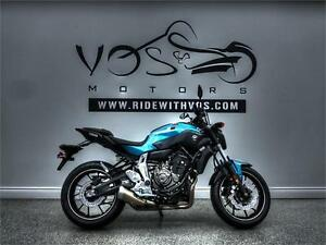 2017 Yamaha FZ 07- Stock #V2433NP-No Payments for 1 Year**