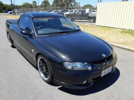 2001 Holden Ute VU SS Black 6 Speed Manual Utility Gepps Cross Port Adelaide Area Preview
