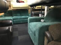 TEAL JUMBO CORD LIFT STORAGE CORNER SOFA BED+CHAIR