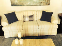3 cushion custom made couch by Brunetti Furniture