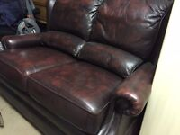 Leather two seater sofa