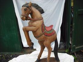 hand made horse sculpture