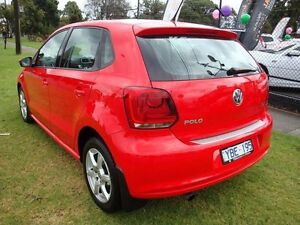 2011 Volkswagen Polo 6R MY11 66TDI DSG Comfortline Flash Red 7 Speed Sports Automatic Dual Clutch Dandenong Greater Dandenong Preview
