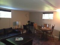 Spacious Basement apartment with separate entrance available Sep