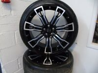 "22"" Hawke Range Rover Alloy Wheels 265/35/22 with Tyres Bargain"