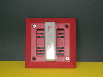Fos 6120 Fire Alarm Wall Mount Speaker Audble Visual 21-30 Volts Dc