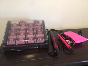 Hot rollers, small straighter, curler clean and hardly used