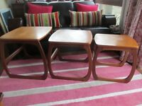 Retro NATHAN NEST OF TEAK TABLES - Awesome! Only £60 -- not £105!