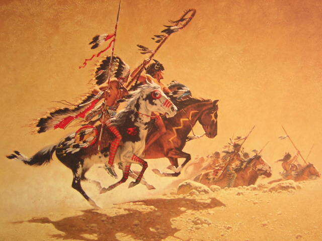 Frank McCarthy On the Warpath Indian Signed Limited Edition Art Print