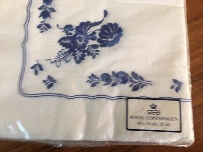 Royal Copenhagen Blue Flowers Fluted Paper Napkins Package of 20 *NEW*