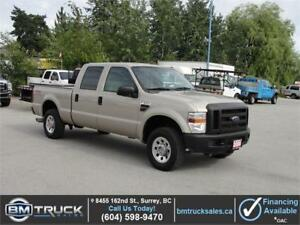 2008 FORD F-250 SUPER DUTY CREW CAB SHORTBOX 4X4 6 SPEED DIESEL