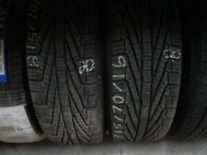 215/60r16 2 only used goodyear a/s tires