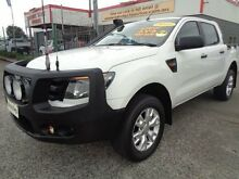 2013 Ford Ranger PX XL 3.2 (4x4) White 6 Speed Manual Dual Cab Utility Sandgate Newcastle Area Preview